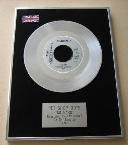 PET SHOP BOYS - SO HARD PLATINUM single presentation DISC